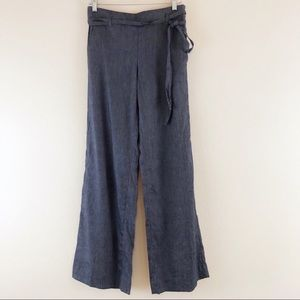 NWT Ann Taylor Chambray Pants Blue Career Size 0